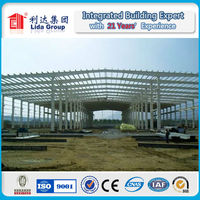 Sandwich panel wall and roof,steel structure warehouse with hoist beam