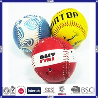 hot sell PVC leather OEM design promotional cheap price customized logo baseball ball manufacturer from china