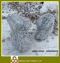 decorative zebra stone boulder