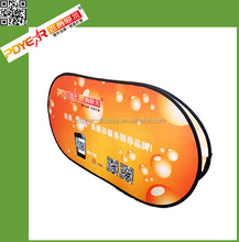 Advertising tradeshow velcro horizontal pop up banner