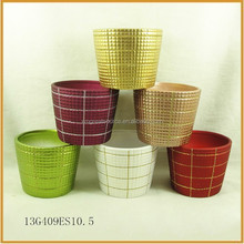 hand-painting ceramic indoor plant flower pots ornaments for sale
