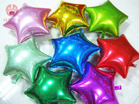 Foil helium party decoration inflatable star