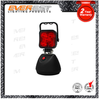 Waterproof Emergency function Auto Flashing LED Work light red, 2 In 1 Led rechargeable work light with Magnetic base