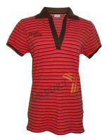 Ladies' deep V-neck t-shirt/ OEM POLO FOR LADIES
