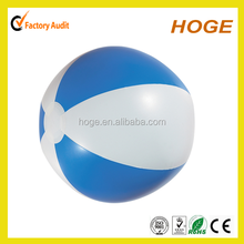 18 INCH Diam White and Blue Inflatable PVC Beach Ball