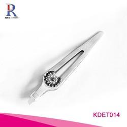 Rhinestone crystal Professional Stainless Steel eyebrow tweezers