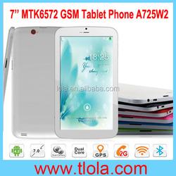 Cheap 2G 3G Phone Call Tablet PC with Bluetooth GPS FM Dual Camera Flashlight A725W2