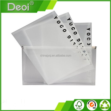 Factory Wholesale Custom A4 Clear Plastic Zipper File Bag