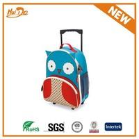 cute owl children travel trolley luggage bag