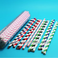 pvc box packing paper straw for party favor, food grade paper straw eco-friendly
