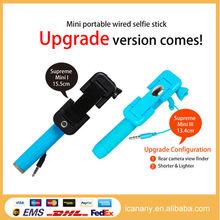 Gift monopod top brand digital camera monopod tripod selfie stick cheapest price dropship selfie stick, mini wired selfie stick