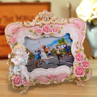 angel decoration hand made photo frame 6x4 inch multi color 0.5kg innovative design islamic picture frame hot sale from China