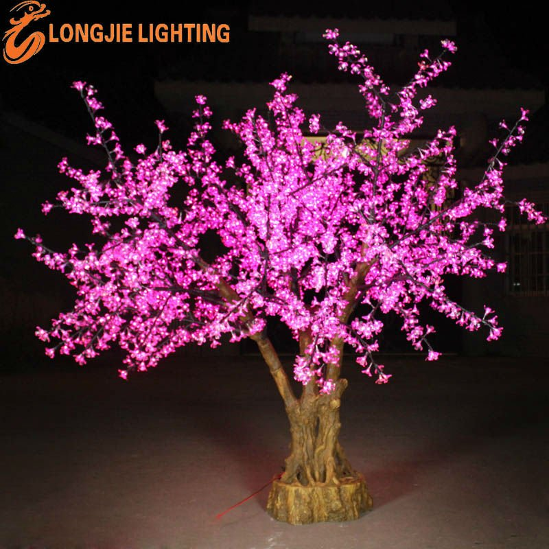 Led indoor bonsai flower tree buy led flower tree led for Guirlande lumineuse interieur decoration
