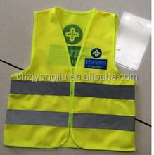 high light comfortable leather reflective safety vest hot sale