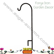 Forged Iron Wedding Decorative Garden Shepherd Hook, Shepherd Hook ,Garden Hanging Hooks