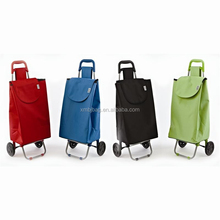 OEM foldable shopping trolley tote bag with wheel Rolling