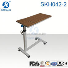 FDA gas spring operated overbed table