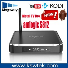 Factory price 8gb flash 2GB DDR3 2.0Ghz android tv box m10 webcam with skype with android 4.4 os