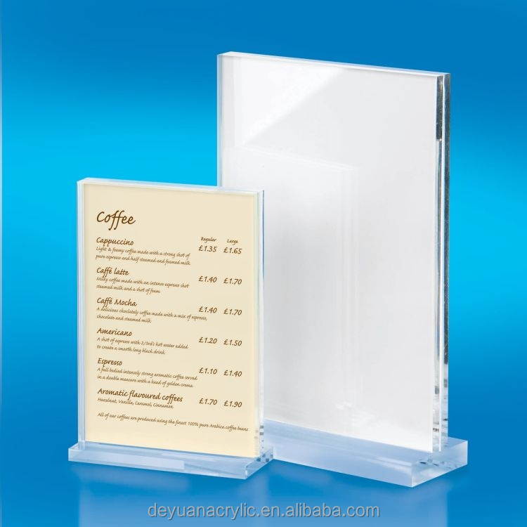cheap price plastic restaurant menu holder/acrylic clear plastic menu holder