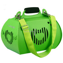 Portable plastic pet carrier for dogs cats
