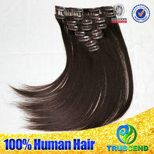 Wholesale Price Full Cuticle Virgin Remy Brazilian Clip In Human Hair Extensions For Black Women