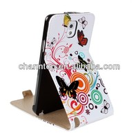 Butterfly Design Leather Flip Case For Samsung Galaxy Note 3