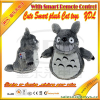 Lovely plush cat toys,cute plush toys with smart remote control