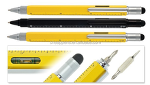 high quality metal pen with level and screwdriver with logo