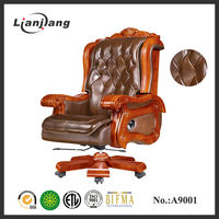 Luxurious genuine leather throne chairs for sale