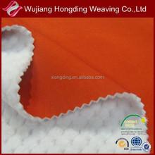 Two way spandex pongee fabric bonded with TPU and polar fleece/3 layer fabric