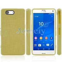 Factory Price Mobile Phone Cases For Sony Experia Z3 Mini Case, Mesh Solid Color Soft Silicon Gel TPU Case Cover