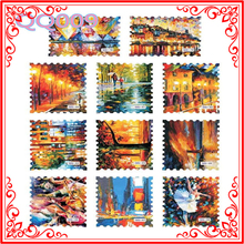 YP HOT SALE Nail Decorations Full Tips Decal Vintage Postage Stamp Nail Sticker,Flower Architecture Nail Sticker