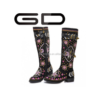 GD Factory production of wholesale boots rubber boots sexy woman