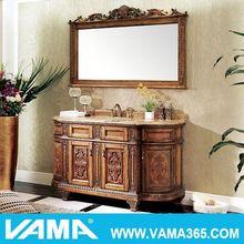 VAMA V-19719 antique wooden hand carved bathroom vanity