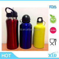 FDA certificated 18/8 sport drinking bottle with different lid