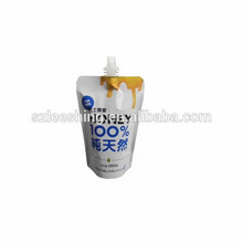 Hotsale drink pouch with spout packaging milk bag