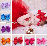 Promotions!!red bow flower hair accessories headwear girls baby headband
