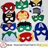 Various designs superhero felt masks for Halloween party costumes
