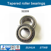 Chrome steel single row tapered roller bearings 32209
