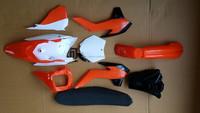 Chinese hot selling dirt bike plastics 2013 85 KTM250 plastic body kit with fuel tank and seat new KTM250 fairing kit