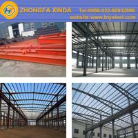 ASTM/JIS/DIN standard prefab metal building for warehouse