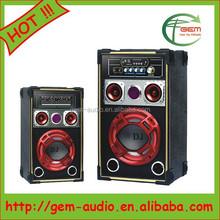 2.0 professional Active stage DJ loud speaker 200 watt loud speaker Gem-616