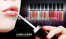 Anti-wrinkle LED light lip gloss with light and mirror
