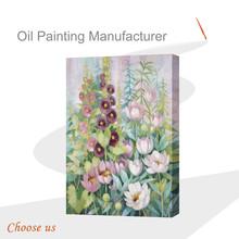 2015 handmade flower canvas oil painting