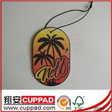 2014 new desgn for promotiion hanging paper air freshener