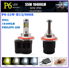 H13 9008 10400LM 55W LED headlights for For-d F150 headlihts