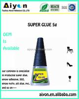 100 CA superior quality super glue,fast setting time glue