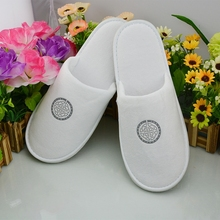 Men bathroom or bedroom slipper with brand name
