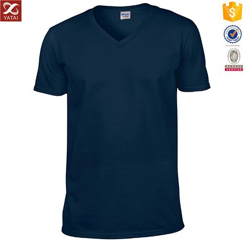 High quality v neck cotton bulk blank t shirt for men for Bulk quality t shirts