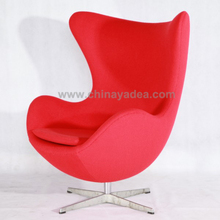 2015 hot sale top quality egg chair with fiberglass frame